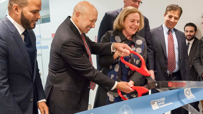 Goldman Sachs '10,000 Small Businesses' Education Center Opens at LaGuardia Community College
