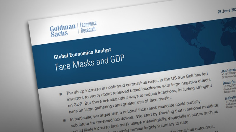Face Masks and GDP