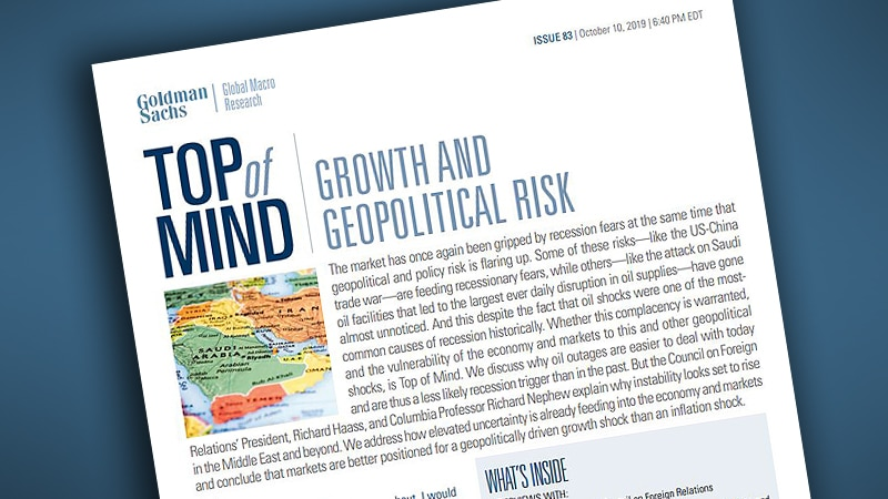 Growth and Geopolitical Risk