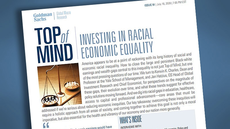 Investing in Racial Economic Equality