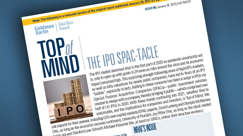Report: The IPO SPAC-Tacle