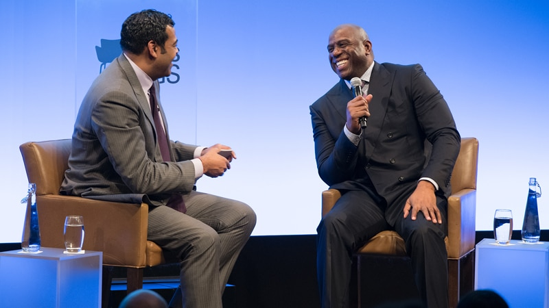 "Talks at GS: Magic Johnson on ""Over-Delivering"" On and Off the Court"