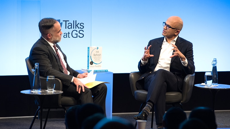 Talks at GS: Satya Nadella - Hitting Refresh on the Culture of Technology
